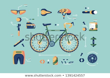 Bicycle equipment for cycling set Stock photo © jossdiim
