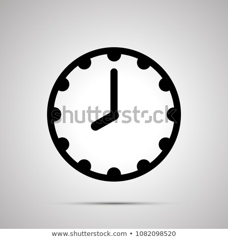 Clock face showing 8-00, simple black icon on white Stock photo © evgeny89