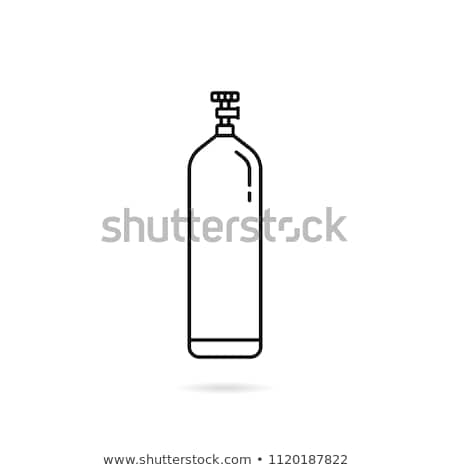 gas tank icon vector outline illustration Stock photo © pikepicture