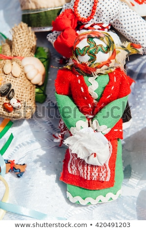 Ukrainian souvenir - a knitted toy talisman Stock photo © ruslanshramko