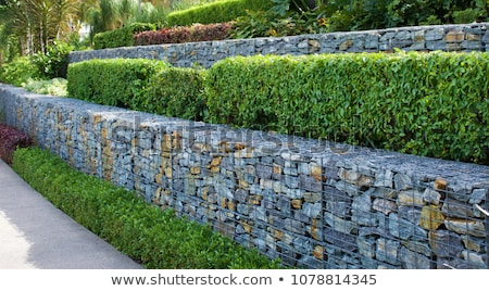 gabion retaining wall Stock photo © pancaketom