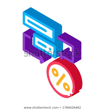 Bonus Scheme Concept isometric icon vector illustration Stock photo © pikepicture