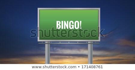 Bingó autópálya tábla zöld felhő utca felirat Stock fotó © kbuntu