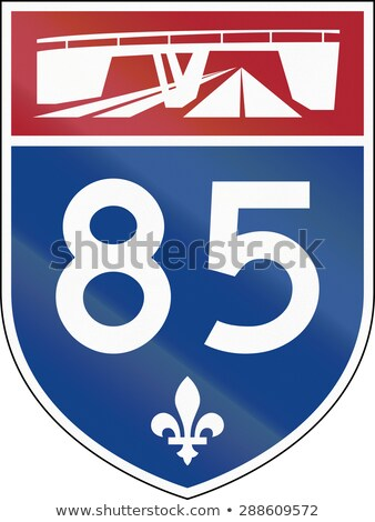Квебек · шоссе · знак · высокий · разрешение · графических · облаке - Сток-фото © kbuntu