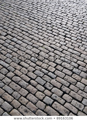 Old English cobblestone road in Plymouth close up. Stock photo © latent