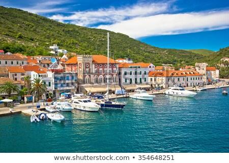 町 · パノラマ · 表示 · 列島 · クロアチア - ストックフォト © suljo