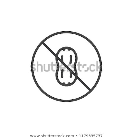 Aviso não amendoins permitido ver manteiga de amendoim Foto stock © klsbear