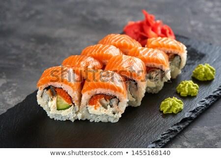 Szusi bár hal férfi összes elemek Stock fotó © coolgraphic