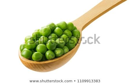 スプーン · 緑 · エンドウ · 白 · 食品 · 自然 - ストックフォト © RuslanOmega