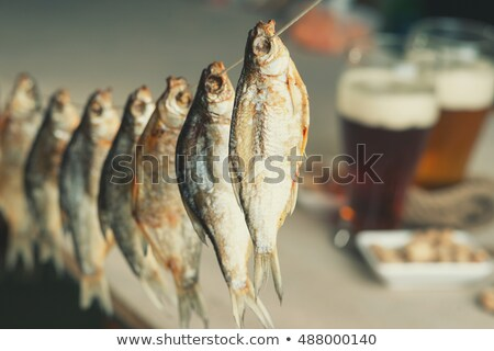 fish drying in market Stock photo © smithore