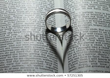 Bible & wedding bands closeup Stock photo © Trigem4