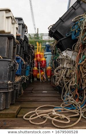 Vissersboot dok meer wal water vak Stockfoto © mybaitshop