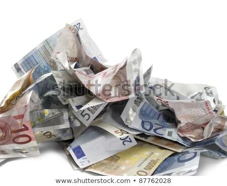Crumbled Euro Banknotes Photo stock © PRILL