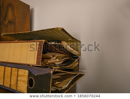 Old tattered folder stock photo © deyangeorgiev