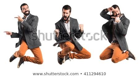 şanslı adam takım elbise gülmek stres yağ Stok fotoğraf © photography33