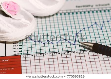 Hőmérő grafikonok termékenység diagram hagyományos Stock fotó © simpson33