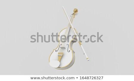 violín · ornamento · modelo · fondo · juguete · blanco - foto stock © witthaya