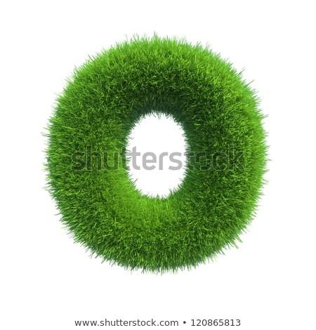 3d grass letter isolated on white background - o stock photo © chrisroll