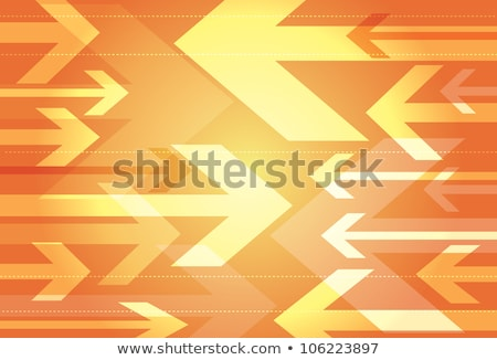 dynamic orange background of opposing arrows stock photo © amosnet