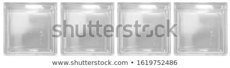 Patroon glas muur water gebouw bouw Stockfoto © Taigi