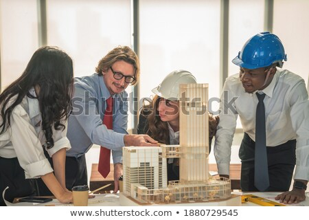 Architect with a model of a commercial development Stock photo © photography33