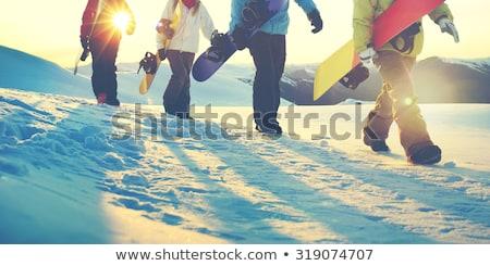 Téli sport síel tél cipő izolált fehér Stock fotó © ivonnewierink