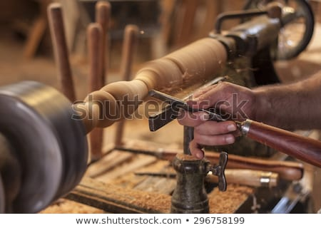 Craftsman with wood lath Stock photo © photography33