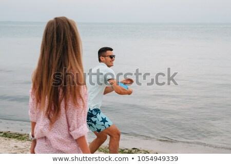 Man playing frisbee stock photo © wavebreak_media