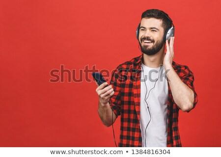 homme · écouter · de · la · musique · homme · blanc · blanche · visage · mode - photo stock © wavebreak_media