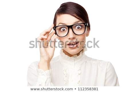 Fun portrait of a strict woman in glasses Stock photo © vankad