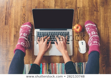 Computer Keyboard and red apple Stock photo © devon