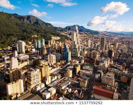 Városkép kilátás Bogotá Colombia elsődleges katedrális Stock fotó © jkraft5