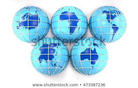 Five continents - 3D render Stock photo © Elenarts