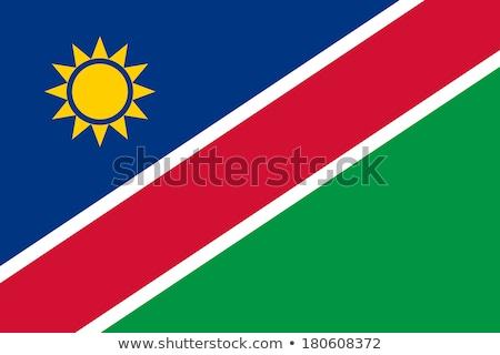 Zászló Namíbia árnyék fehér háttér fekete Stock fotó © claudiodivizia