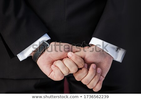 senior business man holding out his hand for a handshake stock photo © get4net
