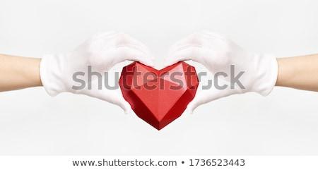 2 腕 赤 ファブリック 中心 ストックフォト © HASLOO