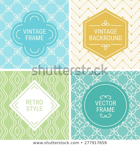 Blue rhombus label with dotted frame Stock photo © icefront