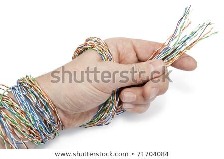 Technik przygotowany kabel komputerowy związku komputera Internetu Zdjęcia stock © vavlt