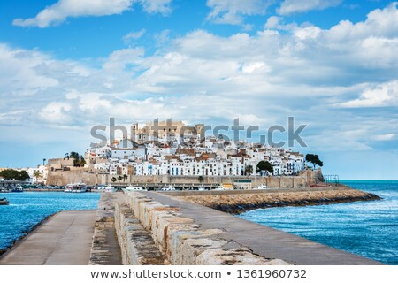Peniscola fortified walls, Spain Stock photo © aladin66