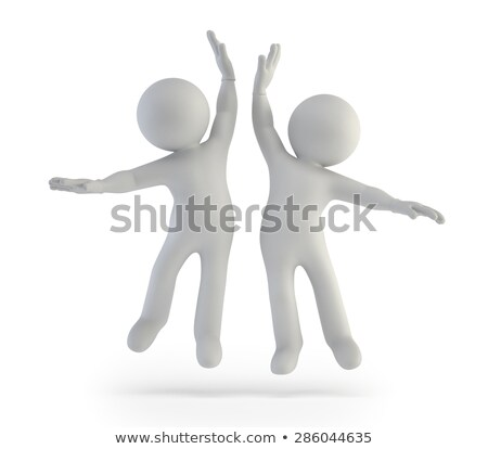 3d small people   high five stock photo © anatolym