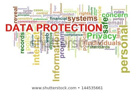 information security wordcloud concept stock photo © tashatuvango