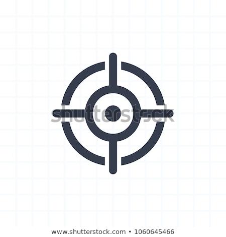 Célkereszt ikon kereszt művészet fegyver fehér Stock fotó © tkacchuk