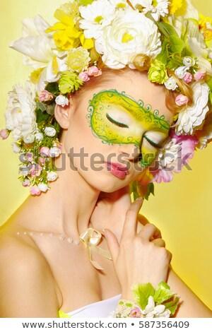 肖像 小さな 美 明るい 眉毛 少女 ストックフォト © gromovataya