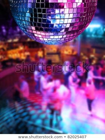 kleurrijk · disco · spiegel · bal · lichten · nachtclub - stockfoto © anterovium