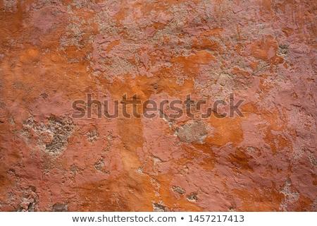 Morze Śródziemne ściany tekstury pomarańczowy konkretnych domu Zdjęcia stock © lunamarina