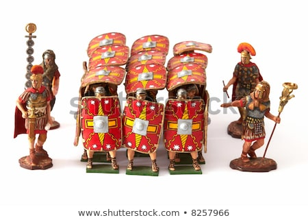 Romaine jouet soldat isolé blanche fond Photo stock © bloodua