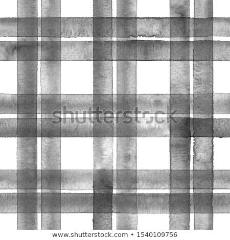 White, Grey and Black Gingham Tablecloth Stock photo © zhekos