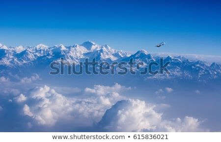 view from the aircraft to the mountains of the Himalaya on Chine Stock photo © meinzahn