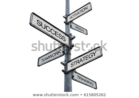Stock photo: Success signpost