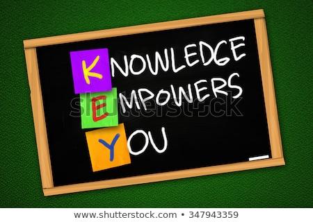 knowledge empowers you chalk illustration stock photo © kbuntu